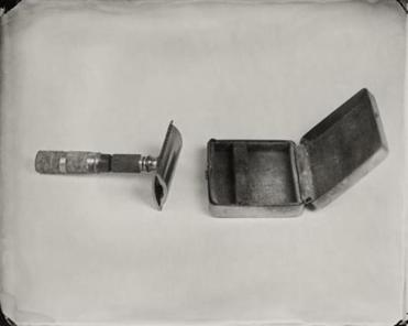 "A safety razor, one of Keliy Anderson-Staley's ""Objects of Uncertain Provenance."""